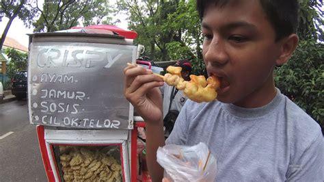gjakarta street food  part crispy mushroom chicken