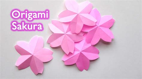 Origami Cherry Blossoms - origami flower cherry blossom 折り紙 桜 サクラ 切り方
