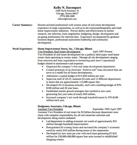 consultant resume template 8 free sles exles format