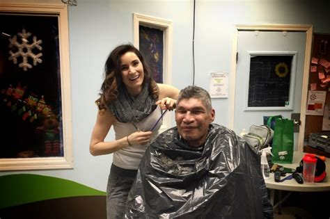 haircuts for homeless calgary fundraiser by misty shingoose haircuts for the homeless