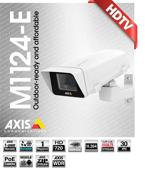 Axis M1124 E Network axis communications ip cameras certified montreal