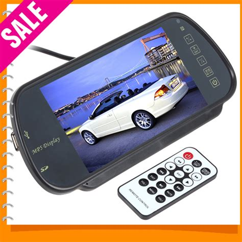 Monitor Rear View Parkir Mobil Tft Lcd 5 Inch 7 inch color tft lcd mp5 car rear view mirror monitor auto vehicle parking rearview monitor sd
