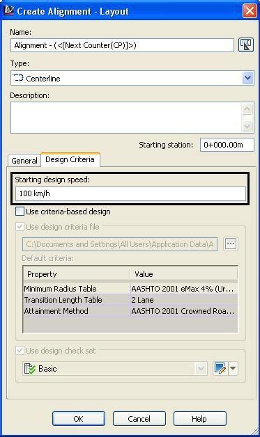 va design criteria thuật ngữ design speed trong civil 3d civil 3d vn