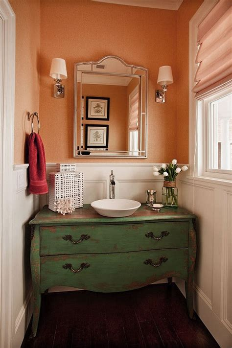 Classic Style Small Bathroom Ideas Home Furniture Ideas | powder room design ideas 2017 grasscloth wallpaper