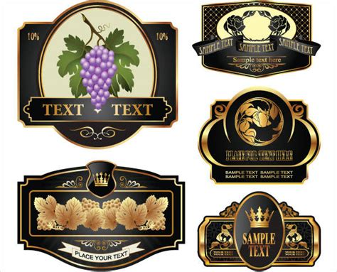 8 wine bottle label templates design templates free