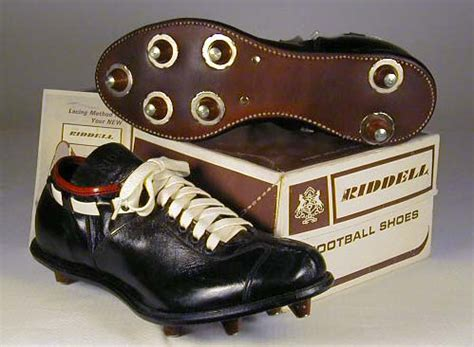 riddell football shoes 1950 s riddell football shoes sports memorabilia museum