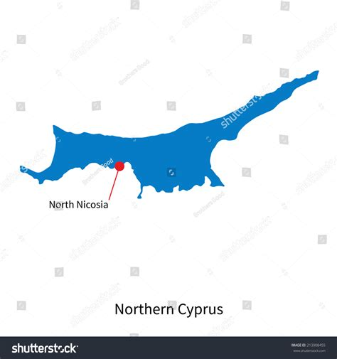 cyprus map vector nordzypern kapital karte