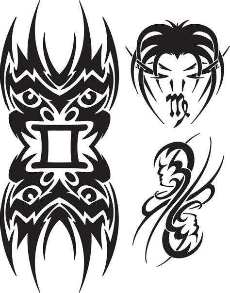 tribal gemini tattoos tribal zodiac tattoos