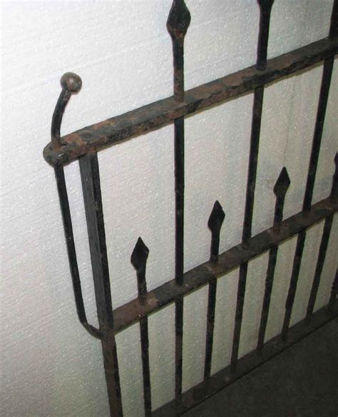 wrought iron garden gate  hand hammered finials olde