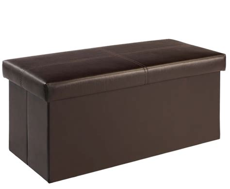 Large Faux Leather Ottoman Bellville Large Brown Faux Leather Ottoman Just Ottomans