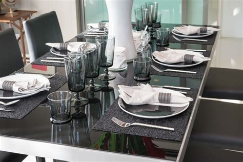 Dining Table Settings Decorations Modern Dining Table Setting Ideas My Modern Glam Table Get The Look With Textile Erika