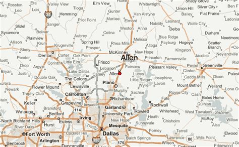 map of allen texas allen location guide