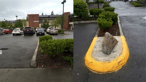 Kinsey Planters by Infamous Rock In Snoqualmie Parking Lot Inflicts Thousands In Damage Property Manager Installs