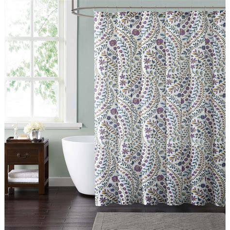 fuschia shower curtain style 212 nealy floral 72 in blue and fuschia shower