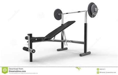 bench press design bench press stock photo image 59001671