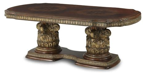 villa dining extension table villa valencia rectangular extendable dining table from aico 72002 55 coleman furniture
