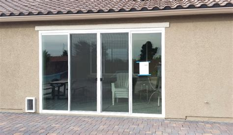 8 Ft Sliding Glass Patio Door Enclose Your Patio With A Magnificent 12 Foot Wide And 8 Foot 4 Panel Sliding Glass Door