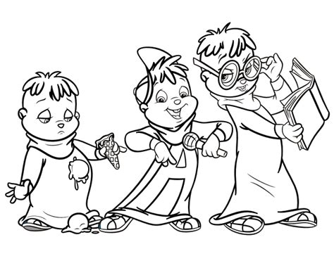 image the chipmunks colouring page png alvin and the