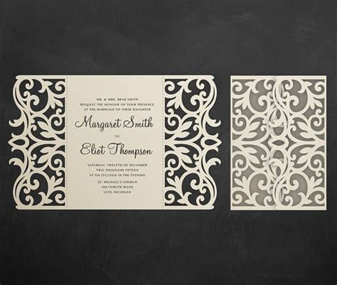 silhouette gatefold card template 209 best laser cut wedding invitations images on