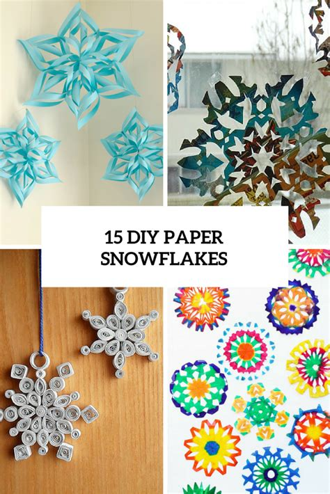 Make Paper Snowflakes For Decorations - diy winter decorations archives shelterness