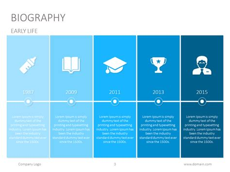 Presentation Biography Baskan Idai Co Biography Powerpoint Template