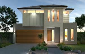 Narrow Lot Duplex Plans double floor house
