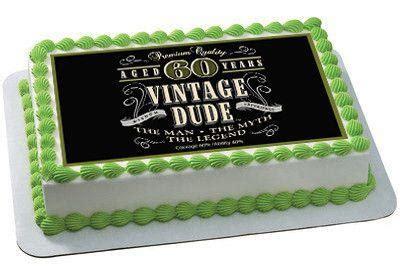 Vintage Dude 60th Edible Cake and Cupcake Topper, Decor ? Edible Prints On Cake (EPoC)