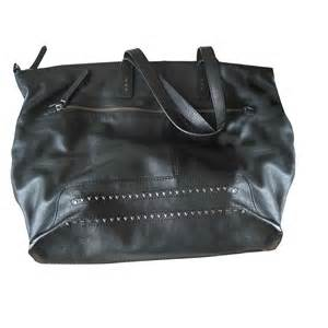 leather shoulder bag comptoir des cotonniers black vendu