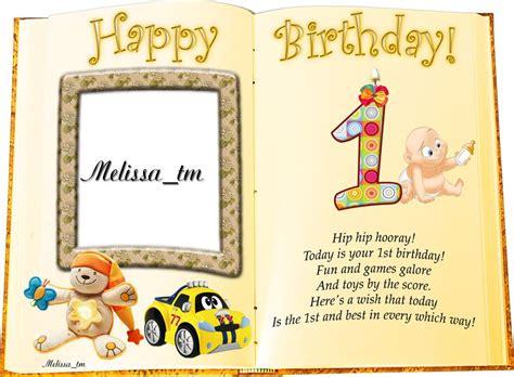 One Year Birthday Card Birthday Card 1 Year By Melissa Tm On Deviantart