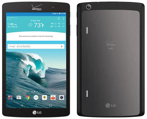 Tablet Lg new lg g pad x tablet shown in leaked images headed