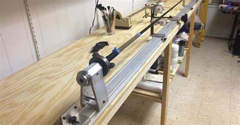 rod building bench my new wrapping bench built 12 31 2014 rod building
