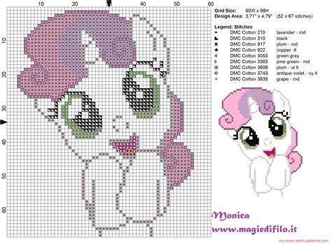 cute little pattern cute sweetie belle my little pony cross stitch pattern