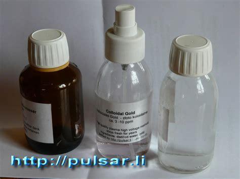 high voltage colloidal gold colloidal water