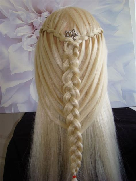 feathers braids pictures feather waterfall twists into mermaid braid hair