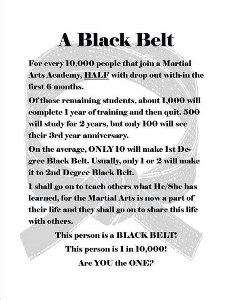 1st Degree Black Belt Essay by Best 25 Taekwondo Quotes Ideas On Martial Arts Quotes Taekwondo And