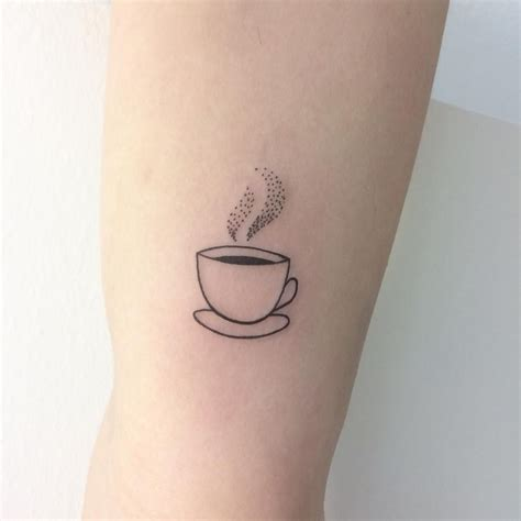 18 tiny tattoos for coffee tats