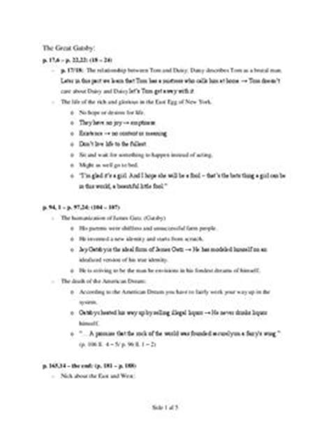 Lebenslauf Englisch Abitur Note The Great Gatsby Abitur Notizen Englisch Lk Schulhilfe De