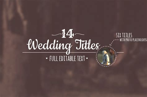 Animated Wedding Titles After Effects Template Filtergrade Wedding Title Templates