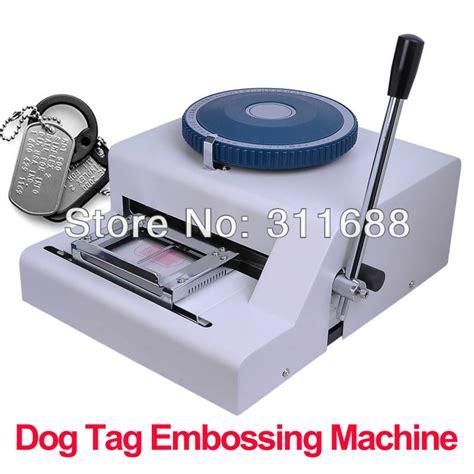 tag machine 52 manual gi steel metal tag tags embosser id card embossing sting machine on