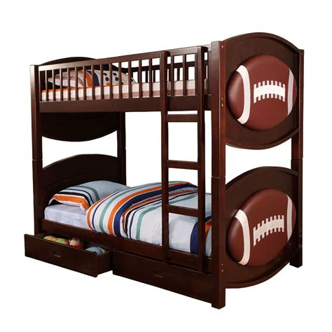 Football Bunk Beds Venetian Worldwide Olympic Football Bunk Bed Espresso Home Furniture