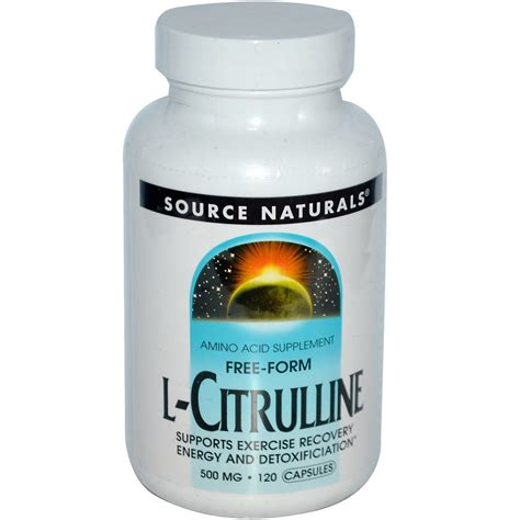 supplement l citrulline source naturals l citrulline 500 mg 120 capsules