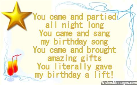 thank you letter to friend for birthday gift thank you messages for coming to a birthday quotes