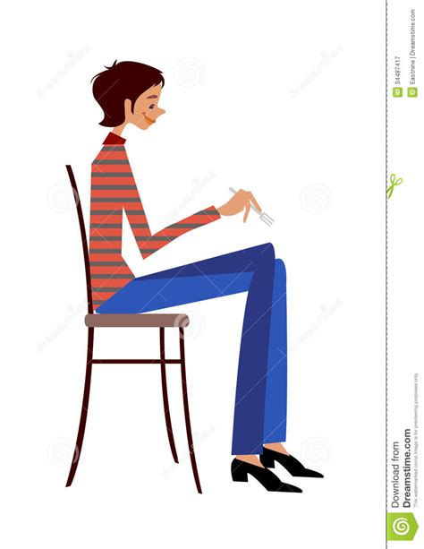 chair side view drawing side view of royalty free stock photography image