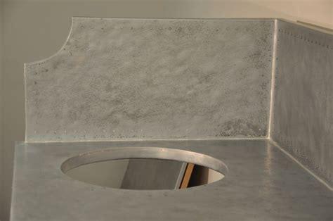 custom kitchens zinc countertops and sinks on pinterest textured zinc countertop and backsplash with undermount