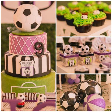 soccer themed birthday decorations kara s ideas soccer themed birthday planning