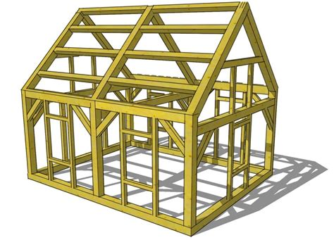house frame timber frame tiny house design