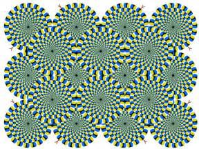 optical illusion moving circles
