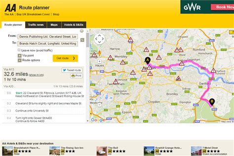 aa route map uk aa route planner best route planners 2016
