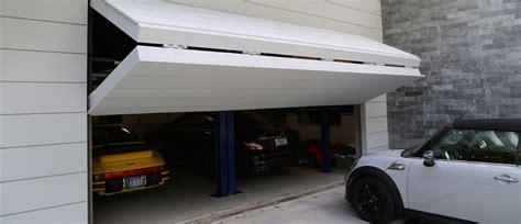 garage door with door built in