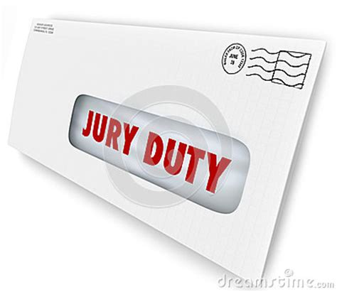 Jury Service Letter Envelope Jury Duty Envelope Summons Appear Court